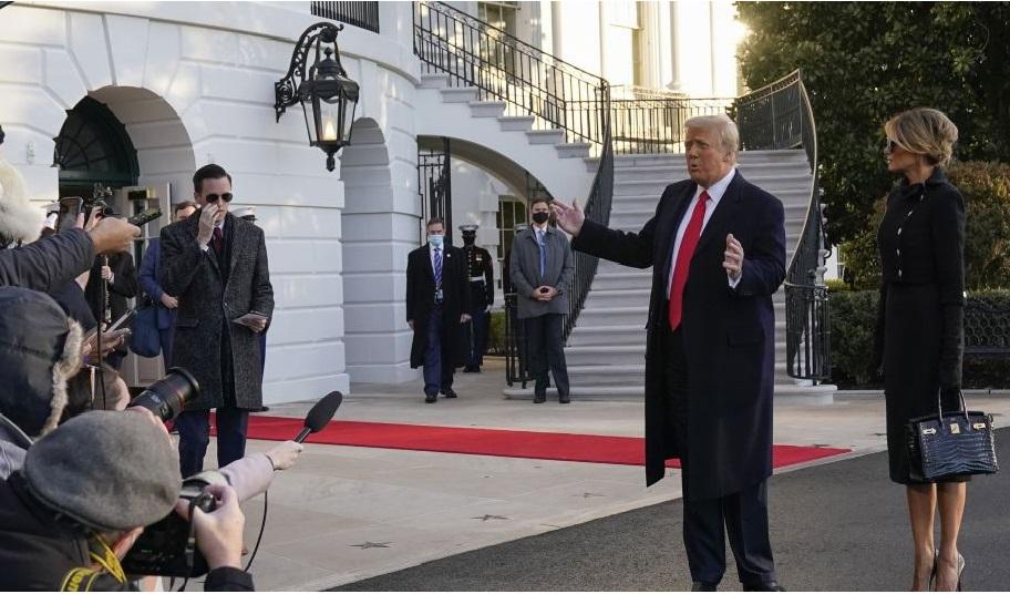 Не дожидаясь инаугурации, Трамп с женой и спецчемоданчиком покинул Белый дом  | новости Одессы на odessa.net.ua