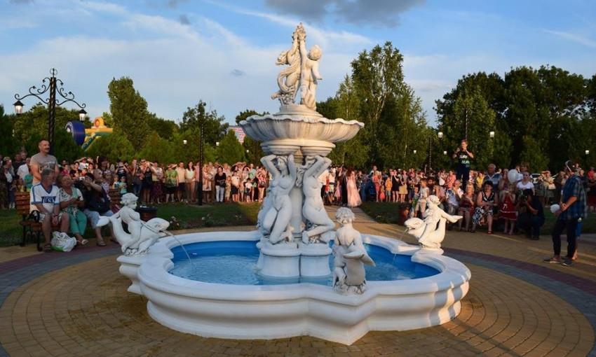 В Фонтанке открылся фонтан в стиле барокко