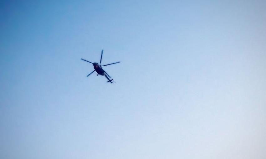 На пляже в Одесской области вертолет снес палатки отдыхающих