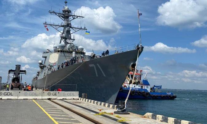 В Одесском порту пришвартовался эсминец США