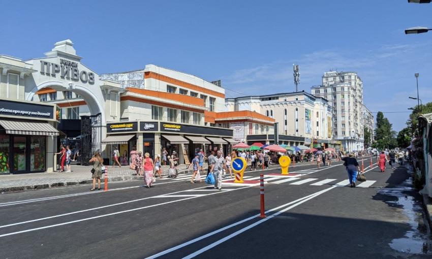 Многострадальная дорога на улице Екатерининская преобразилась, став куда более безопасной