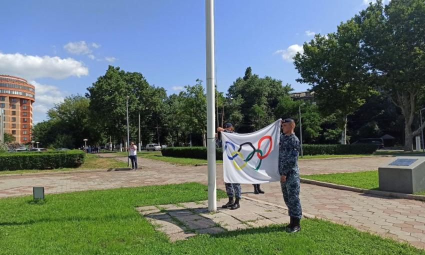 В Одессе подняли олимпийский флаг и пожелали нашим атлетам успехов на соревновании
