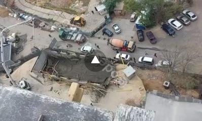 В Одессе на стройплощадке произошел обвал