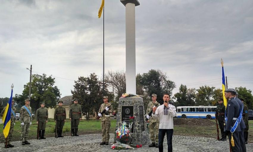 В Ананьеве открыли первый в Одесской области мемориал воинам армии УНР