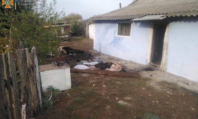 Пожар в Одесской области унёс жизнь пенсионерки
